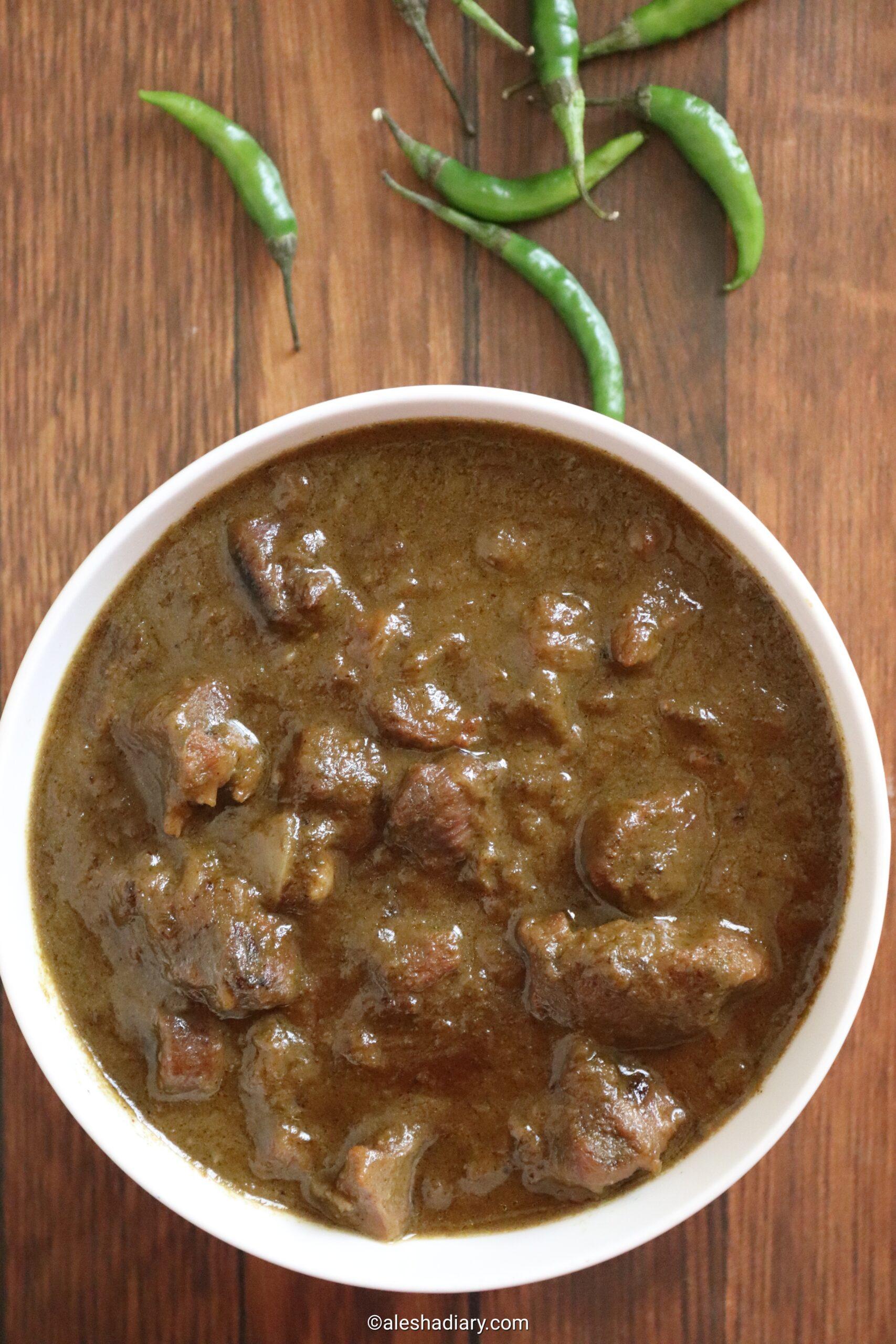 Hariyali Mutton – Green Mutton