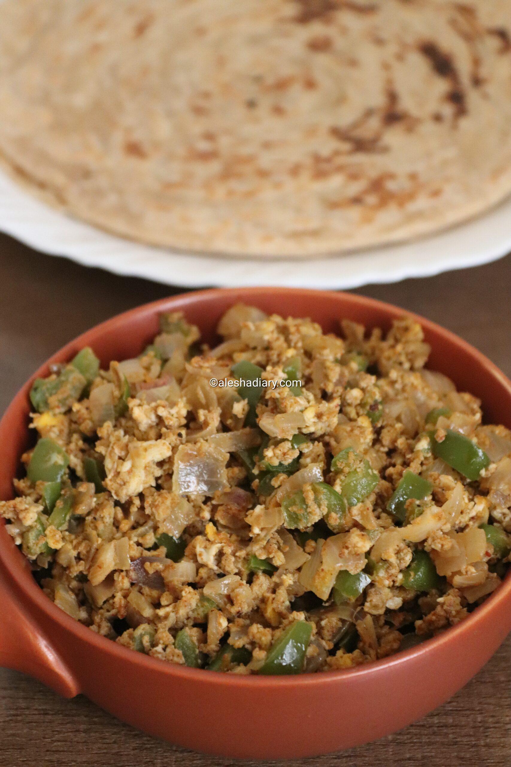Egg Capsicum bhurji