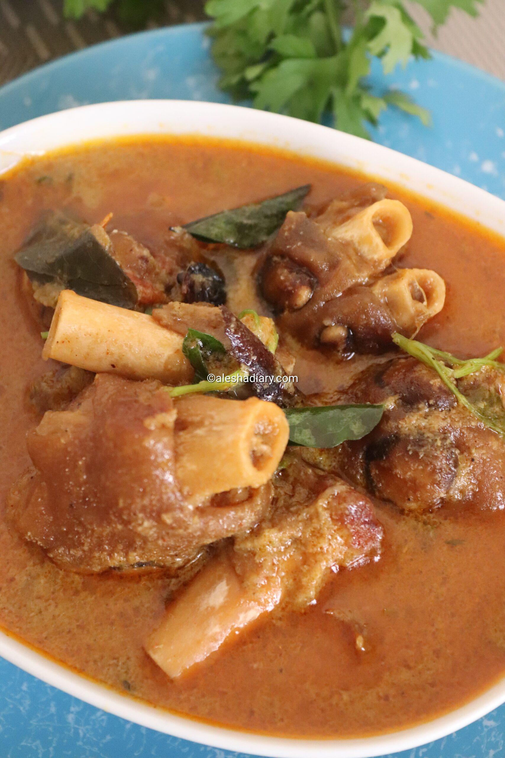 Aatu kaal paya – Mutton paya – Mutton trotters curry- Paya kuzhambu