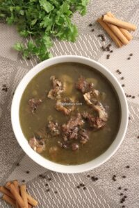 Mutton soup – Mutton bone soup – Soup with Mutton bones