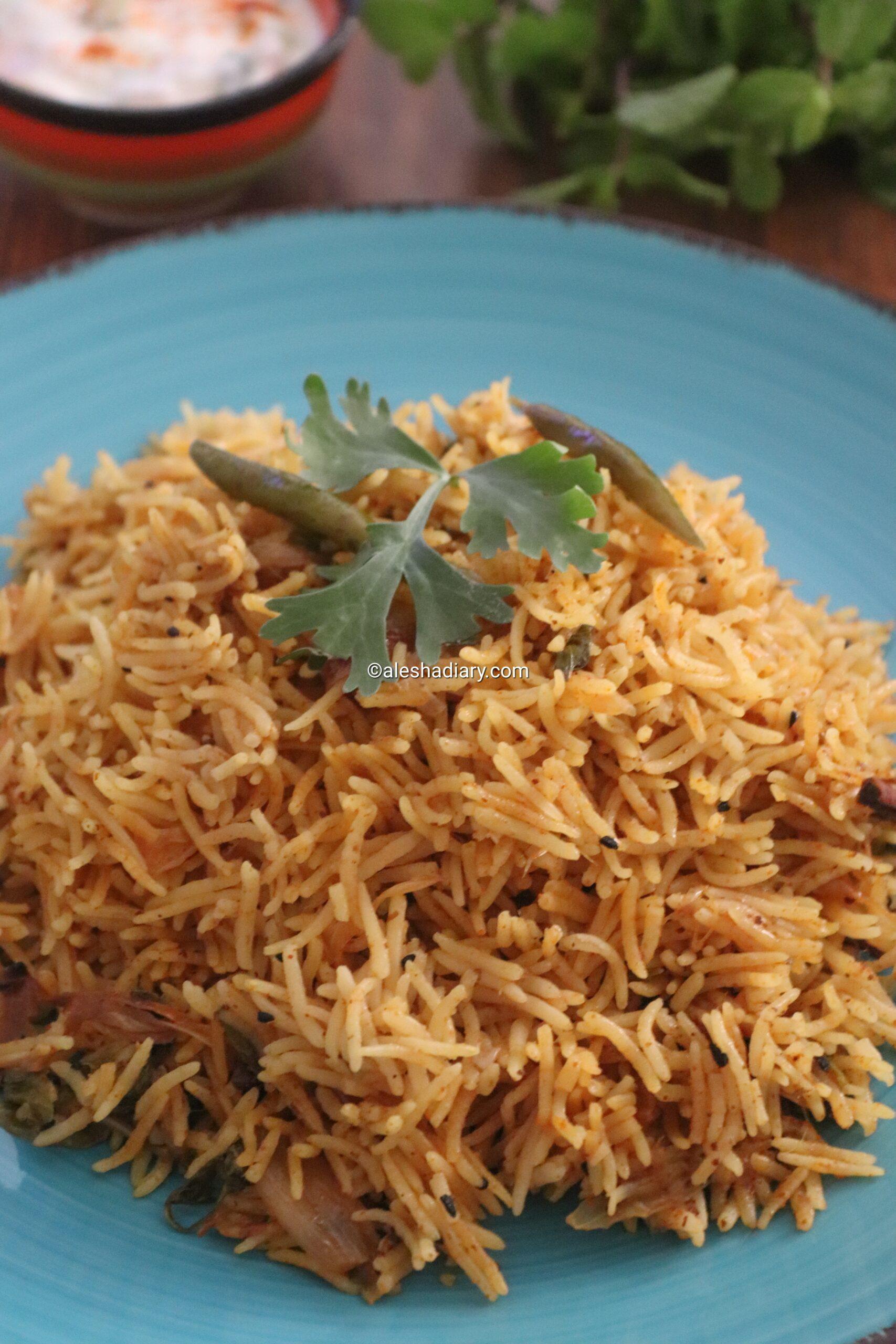 Achari pulao – Mango pickle Pulao
