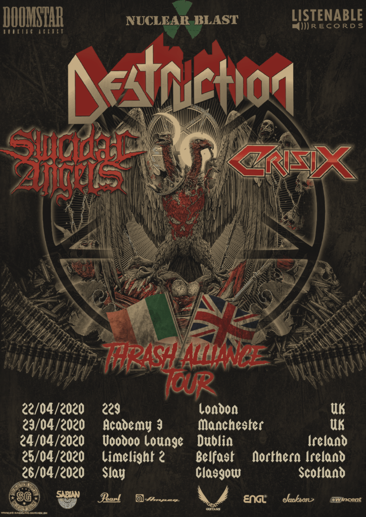 Destruction Announce Their Return To The UK and Ireland