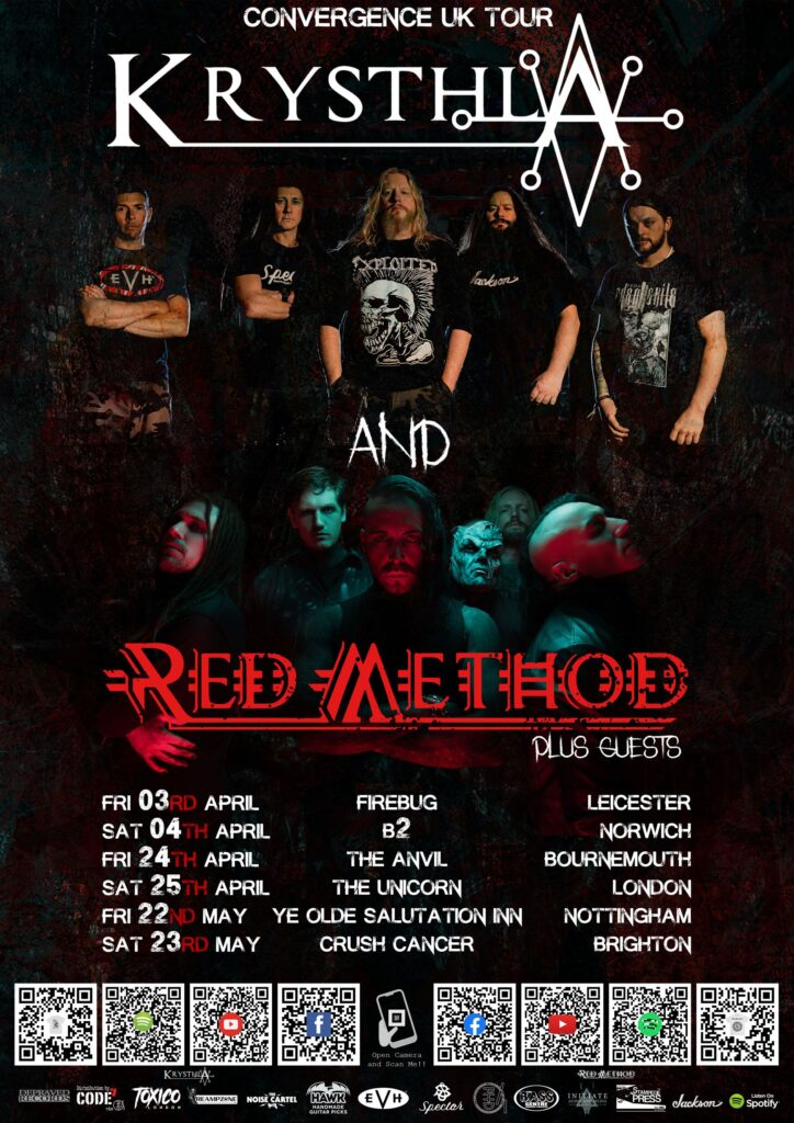 Krysthla Announce UK Tour With Red Method