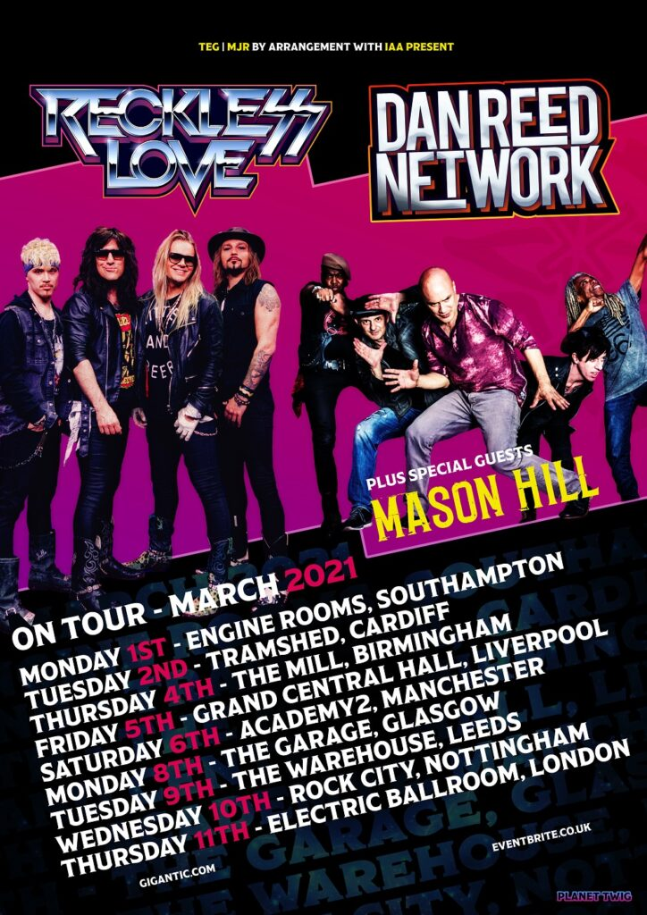 Reckless Love and Dan Reed Network Announce Co-Headline Tour