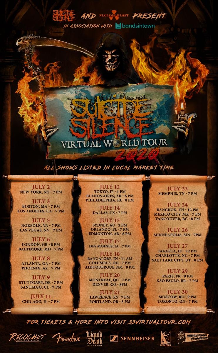 Suicide Silence Set for Massive Virtual Tour