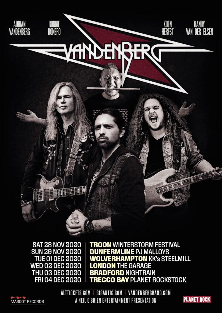 Vandenberg Announce UK Tour Dates