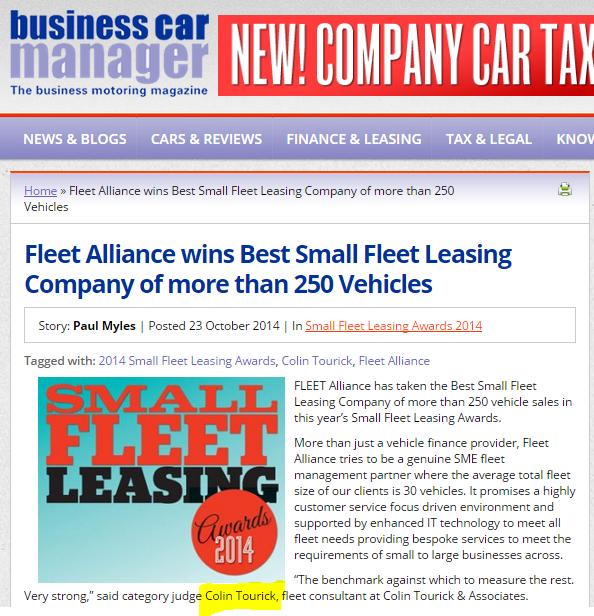 Small Fleet Leasing Awards