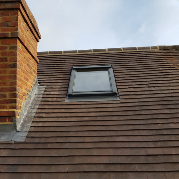 New velux window. Project completed by lead roofer and team of roofers