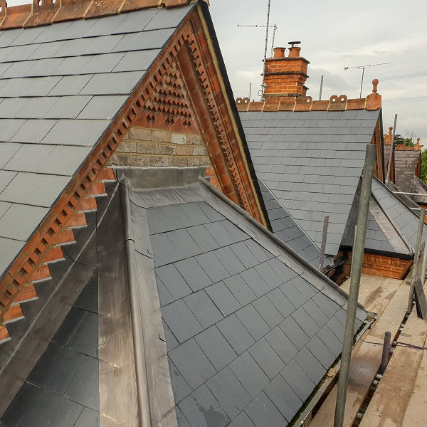 Slate Pitched roof installed by Benjamin James Roofing