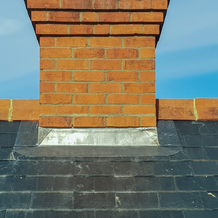 New chimney lead flashing in Reading