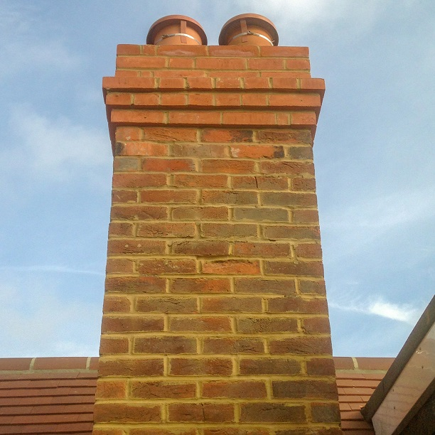 Roofing Chimney re-pointing project completed by Lead Roofer and his team of roofers