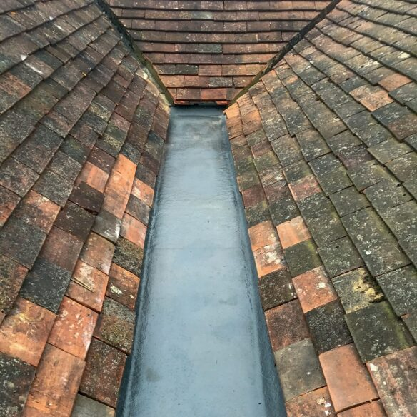 Roofing Replacement Fibreglass GRP gully project by Benjmain James Roofing