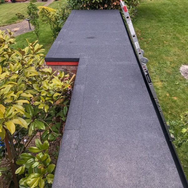 Flat Roofing project completed by Lead Roofer and his team of roofers