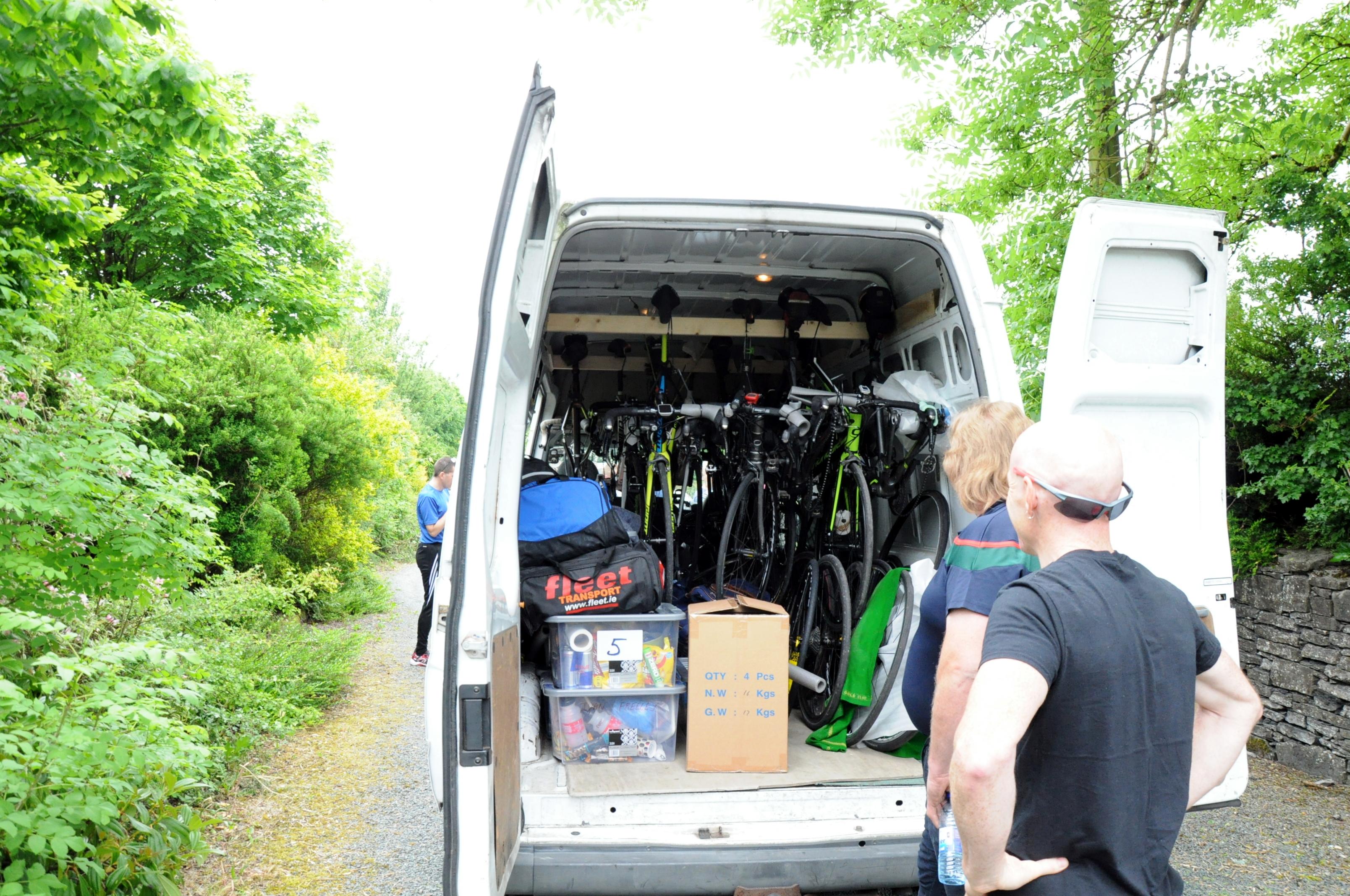Bike transfer for Mizen to Malin