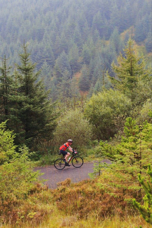 Cycling in the Slieve Bloom mountains. One of the many events I completed on the way to cycling over 50,000km