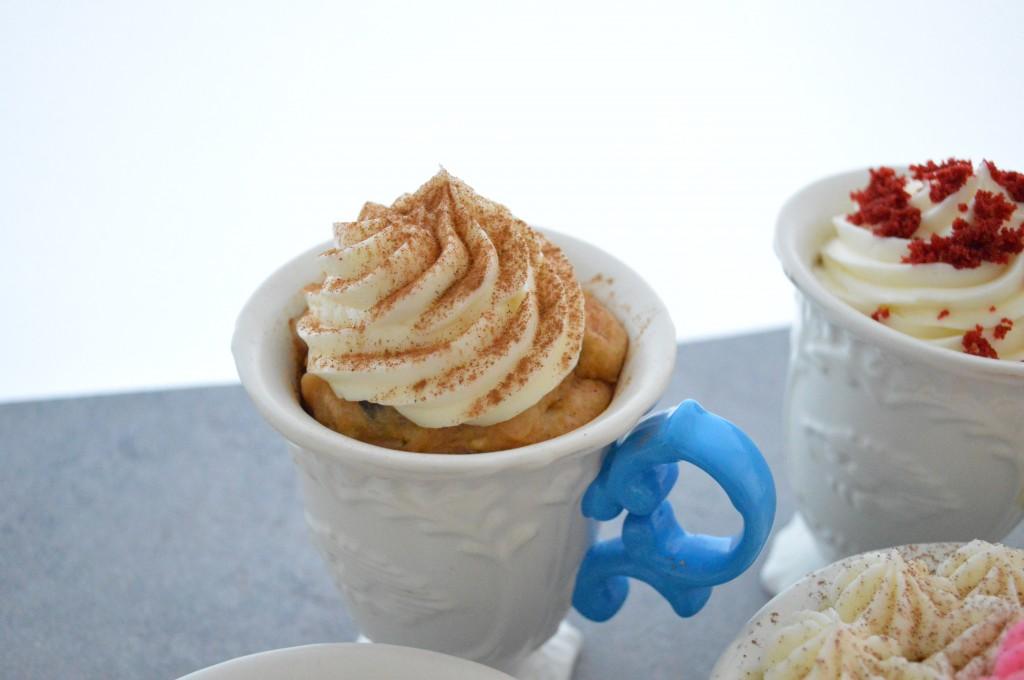 """Cupcake"" al microonde alla carota"