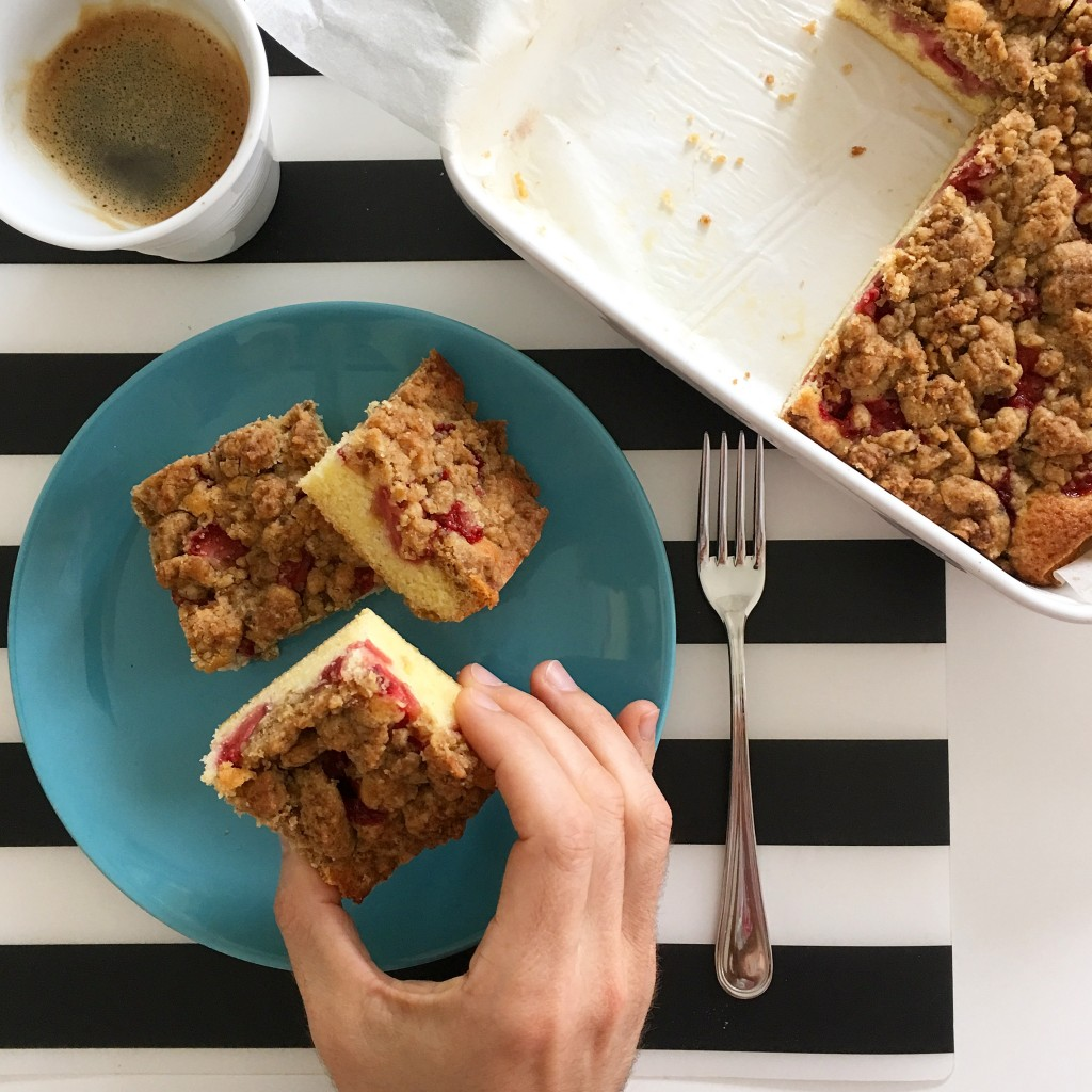 Torta Crumble alle Fragole