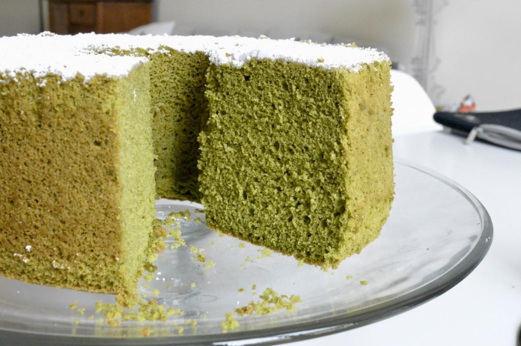 Chiffon Cake al Té Matcha