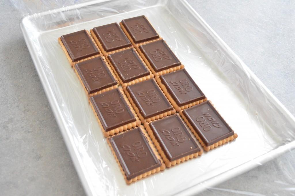 Millefoglie ai biscotti Oro Ciok