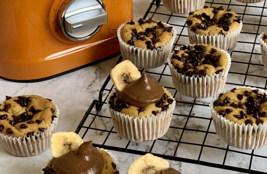 Cupcake Wellness alla banana e cioccolato