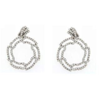white gold diamond hoop