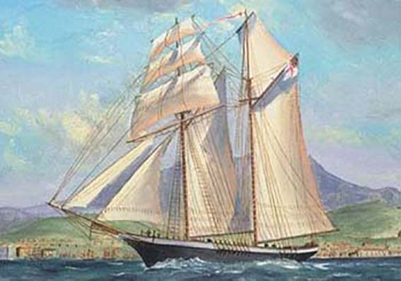 Typical two-masted Schooner- Eliza