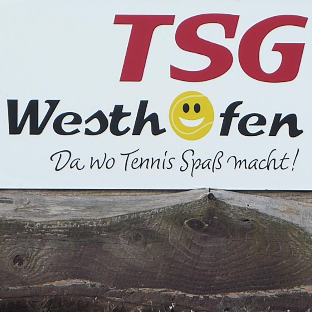 Logo an der Clubanlage der TSG Westhofen