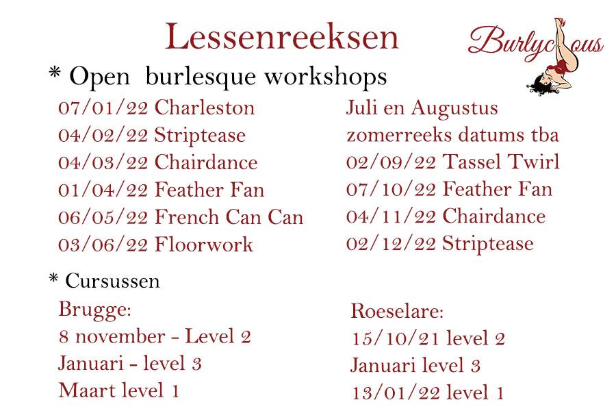 burlesque open workshops