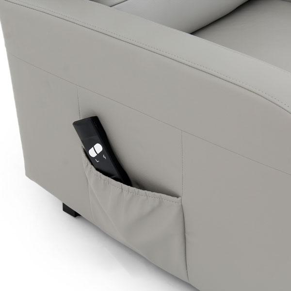 Kofu Modern Half Leather Riser Recliner