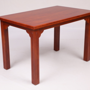 PKR ZDT 401 Rectangle Dining Table with ZDC 501 Three Bend 4 Dining Chairs