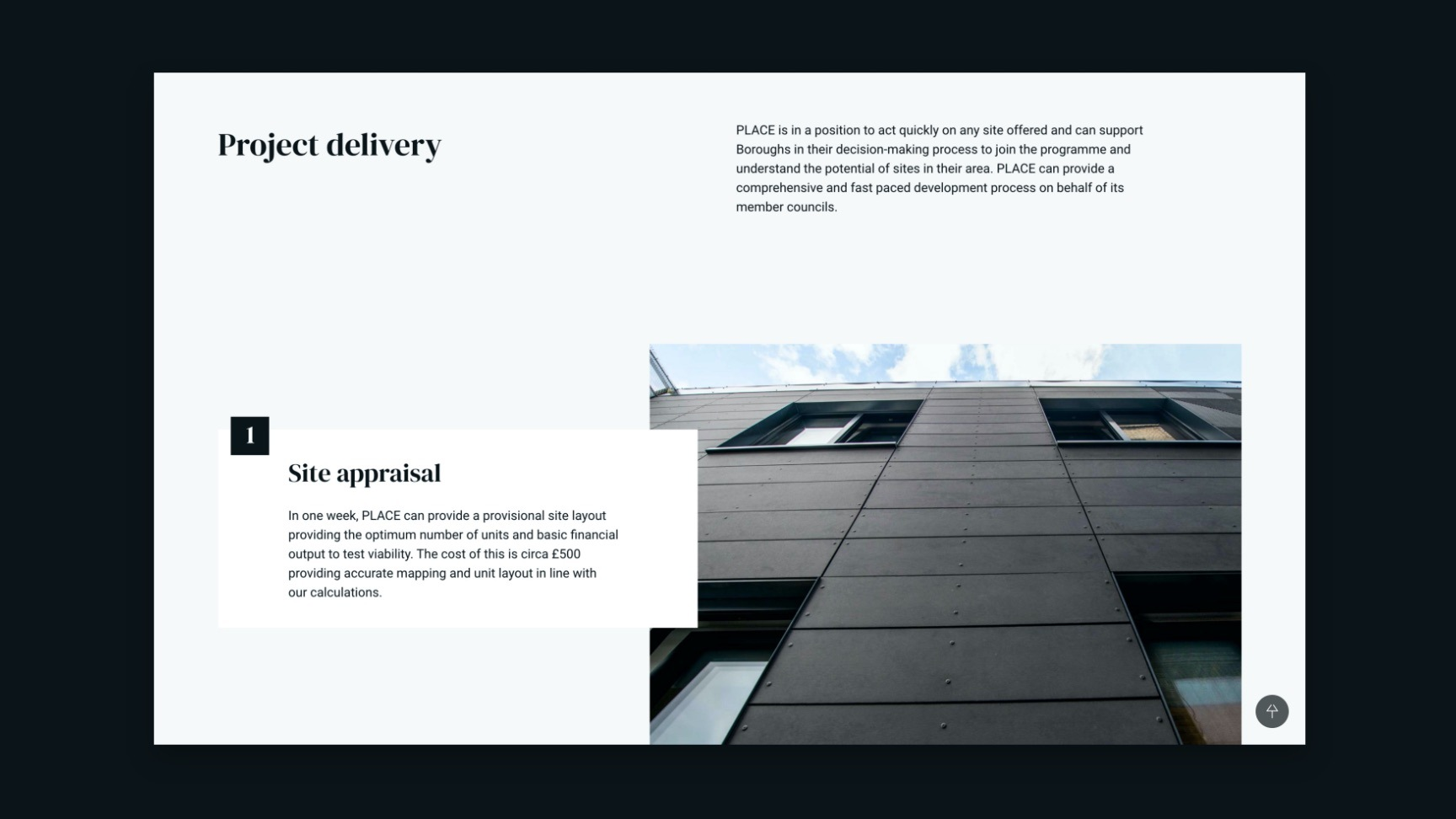 PRoject delivery page