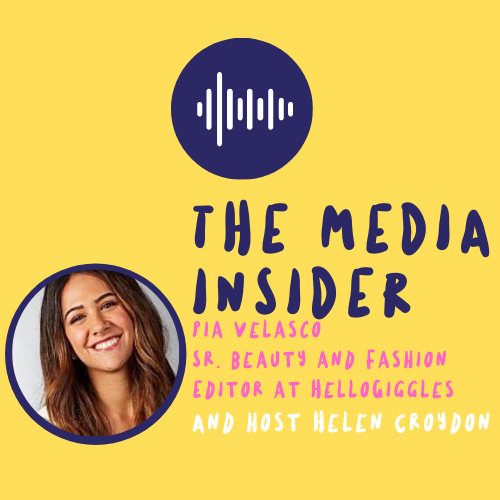 The Media Insider with Pia Valesco Podcast Cover.