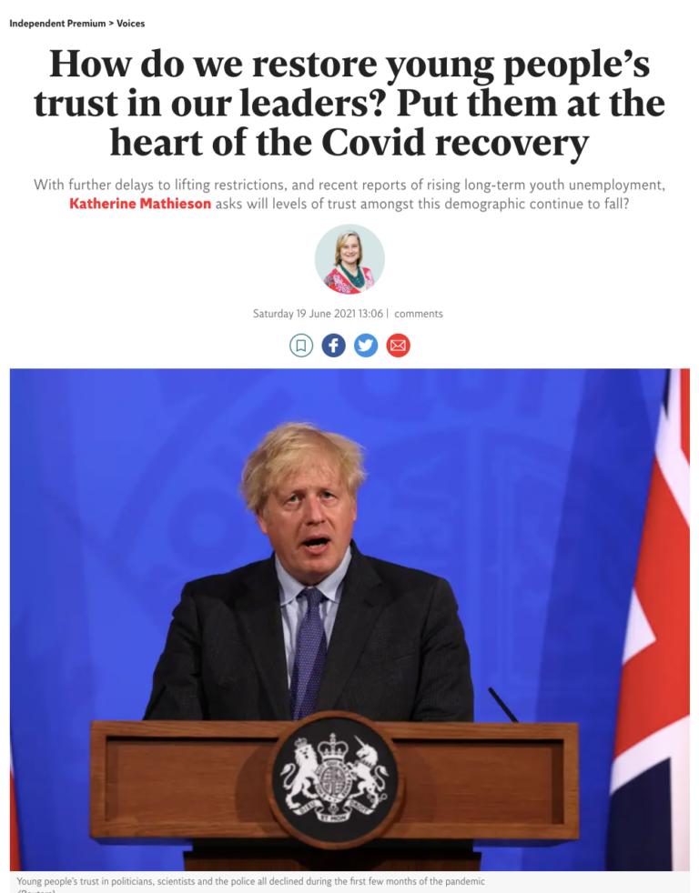 Boris Johnson covid article