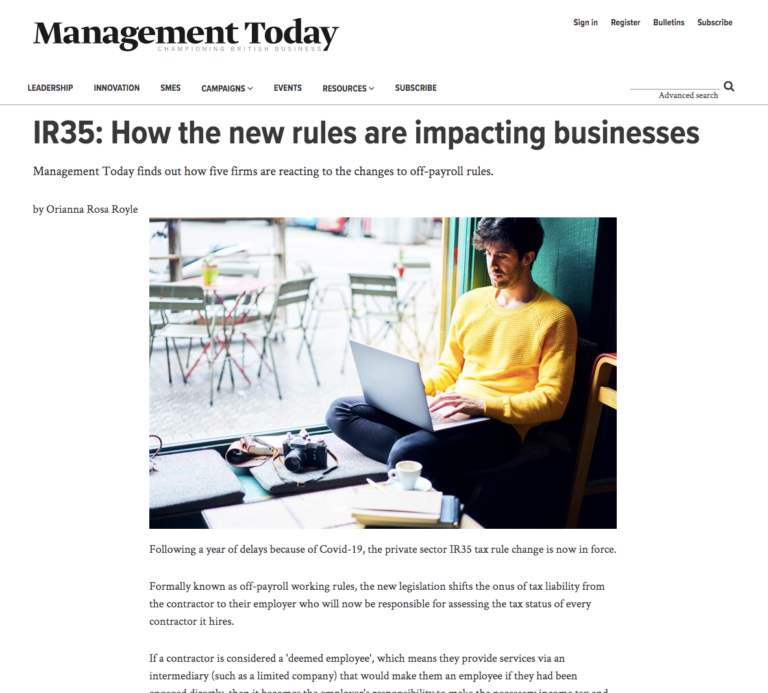 Management Today article IR35