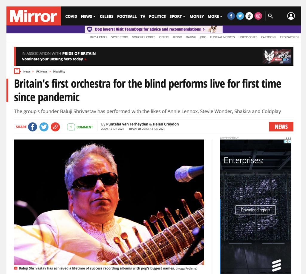 Mirror article with Baluji