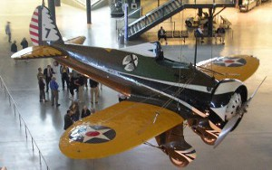 A P26a plane on display at the Smithsonian National Air and Space Museum