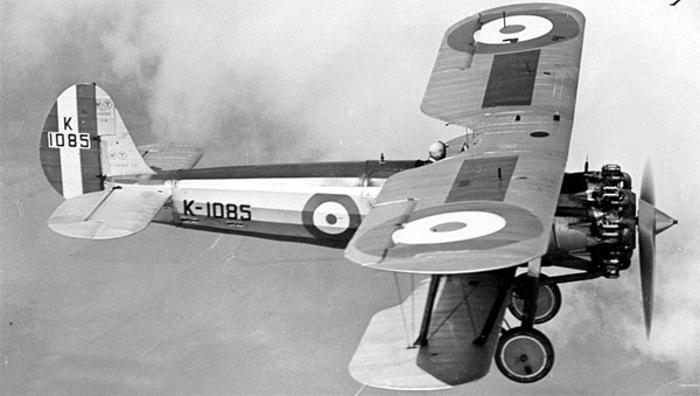 Bristol Bulldog in flight