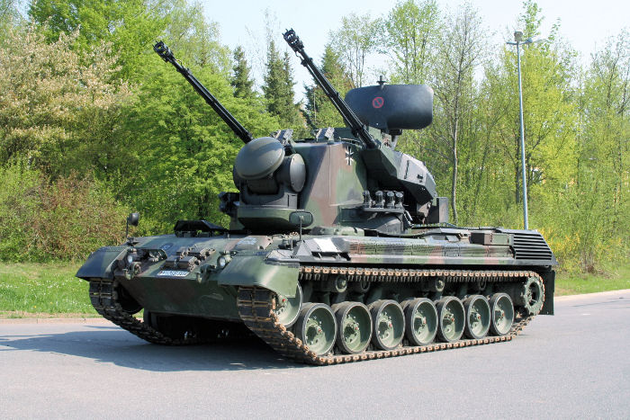 The Flakpanzer Gepard tank of the German Army