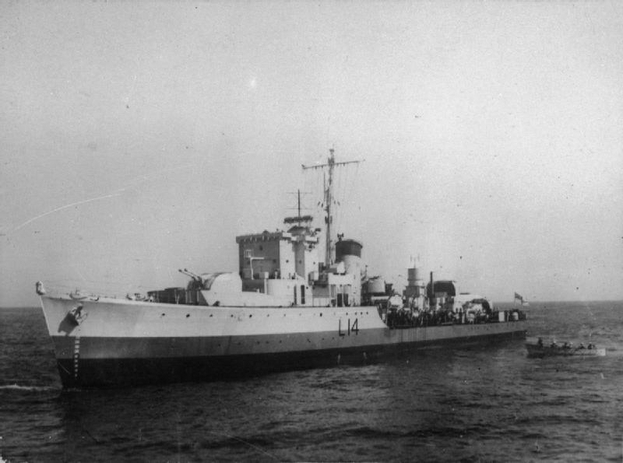 HMS Beaufort - a Hunt class destroyer of the Royal Navy