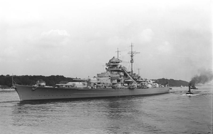 The battleship Bismarck in 1940