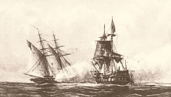 The schooner USS Enterprise outside Tripoli