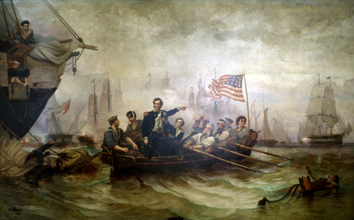 Battle of Lake Erie, painted by William H. Powell in 1865