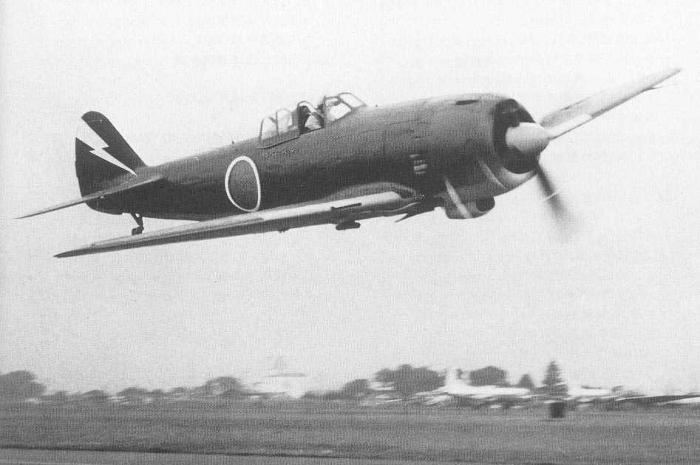 A Ki-84-1 fighter plane
