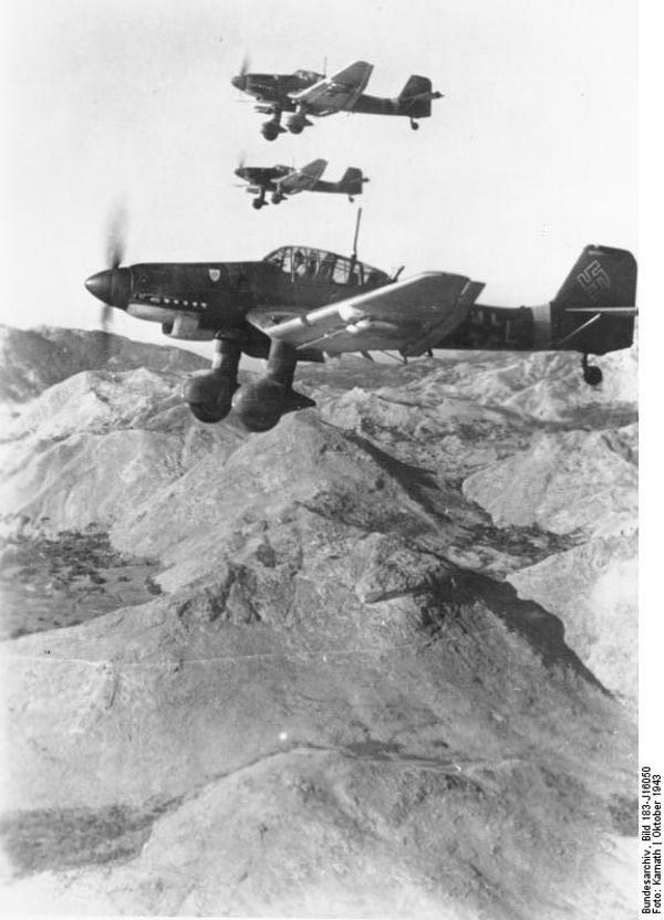 Junkers Ju 87D in flight, October-November 1943