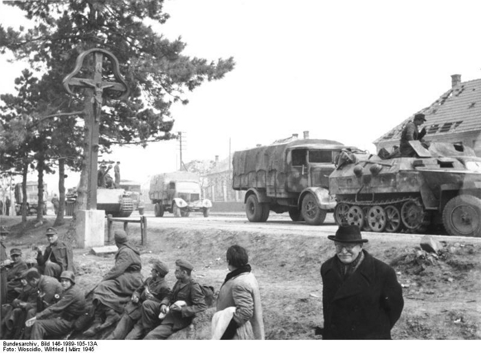 German units during the Lake Balaton Offensive, March 1945