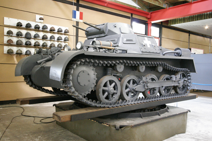 A PzKpfw I on display at the Deutsches Panzermuseum Munster, Germany