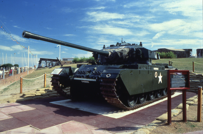 Centurion Mk 3 Tank outside the Eastbourne Redoubt Fortress