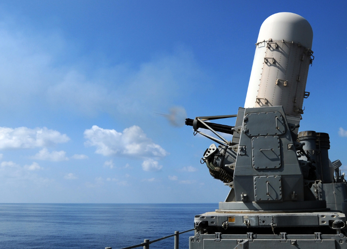 Phalanx CIWS test fire - from USS Monterey