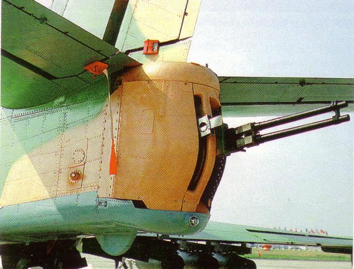 A Gryazev-Shipunov GSh-23 cannon mounted on an Ilyushin Il-102