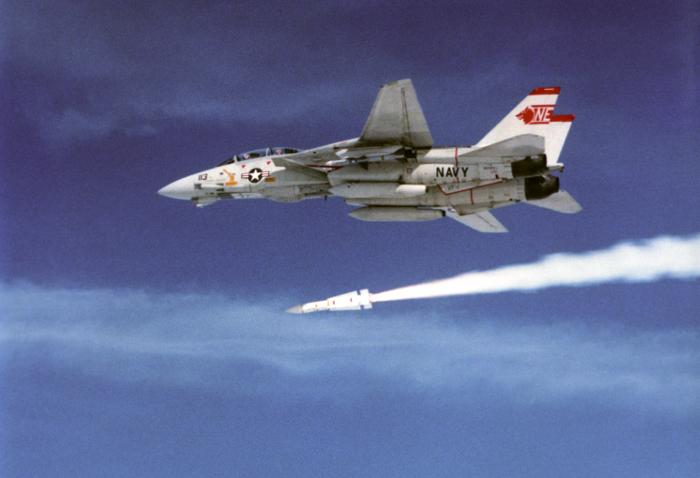 AIM-54 Phoenix missile seconds after launch